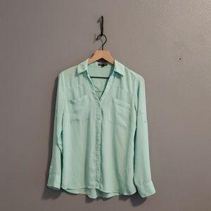 Mint color Express dress shirt